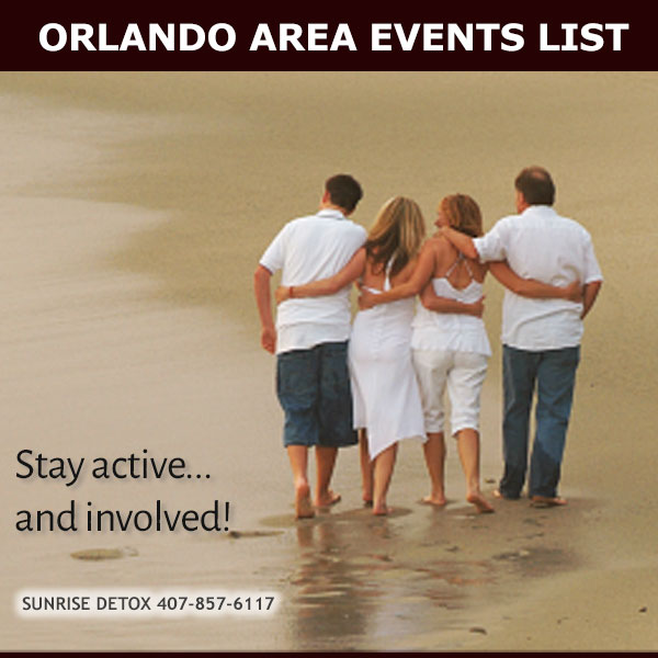 Orlando Metro area events calendar from Sunrise Detox Orlando - winter season image